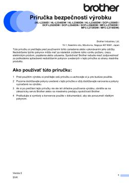 Príručka bezpečnosti výrobku A