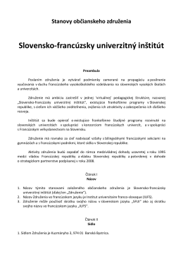 Slovensko-francúzsky univerzitný inštitút