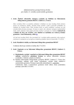 Administratívny postup krok po kroku pre žiakov 4. ročníka