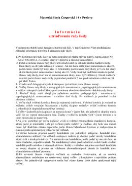 súbor pdf - Materská škola Čergovská Prešov
