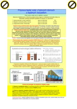 Príprava teplej vody v bytových domoch s