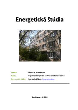 Energetická štúdia