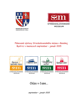 PLÁNOVANÉ VÝSTAVY - Stredoslovenské múzeum