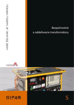 Bezpečnostné a oddeľovacie transformátory