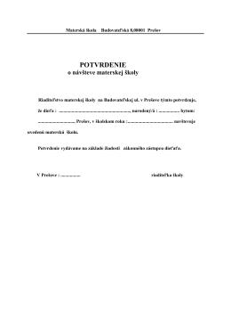 Materská škola Sabinovská 22/A 08001 Prešov