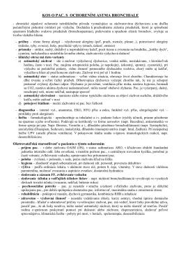 KOS O PAC. S OCHORENÍM ASTMA BRONCHIALE