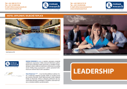 hotel diplomat, rajecké teplice leadership
