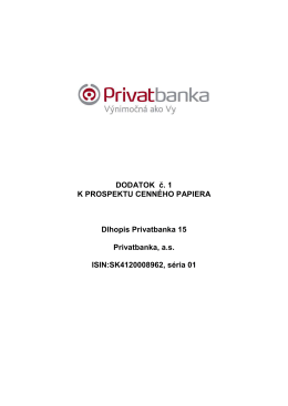 Dlhopisy Privatbanka 15