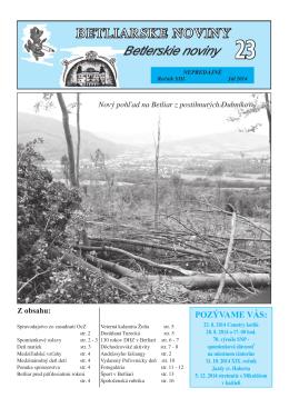 Betliarske noviny č. 23 (2014)