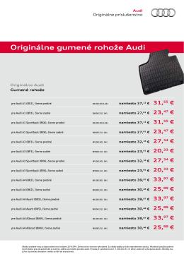 Originálne gumené rohože Audi