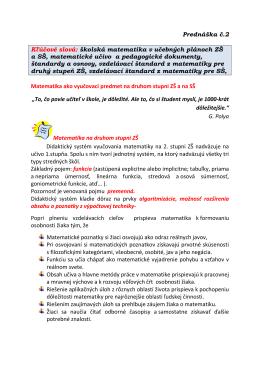 Pedagogicke dokumenty
