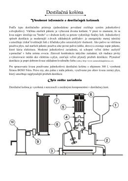 Destilačná kolóna - palenicasmizany.sk
