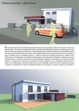 Nízkoenergetický rodinný dom