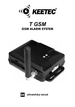 Uživateľský návod T GSM - Auto