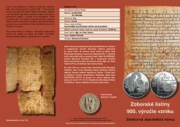 Zoborské listiny 900. výročie vzniku
