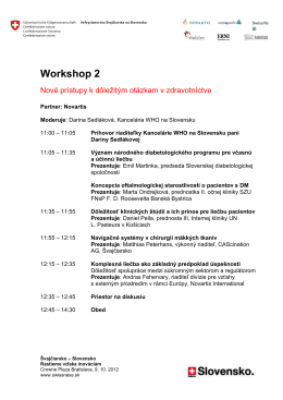 Workshop 2 - Switzerland