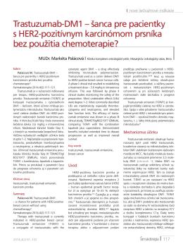 Trastuzumab-DM1 – šanca pre pacientky s HER2