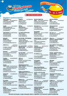 Register vystavovateľov 2014 /pdf