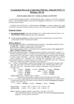 Gymnázium Pierra de Coubertina Piešťany, Námestie SNP č. 9