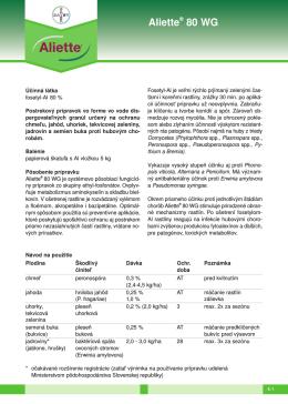 Aliette® 80 WG - Bayer CropScience