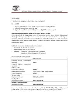 Platby - SZUS Hlinik nad Hronom
