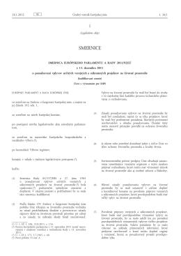 Smernica Európskeho parlamentu a Rady 2011/92/EÚ z 13