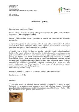 Hepatitída A (VHA) - team