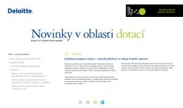 ČR - dotace