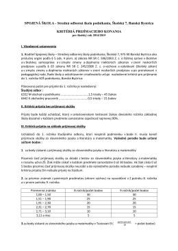 SPOJENÁ ŠKOLA - Stredná odborná škola podnikania, Školská 7