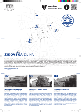 Židovský okruh mestom Žilina - leták