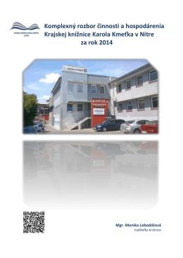 Vyhodnotenie činnosti knižnice za rok 2014.