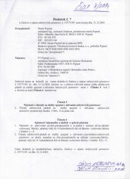 Dodatok c. 7