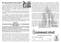 Adonai č. 50/2 - Farnosť Nižný Hrušov