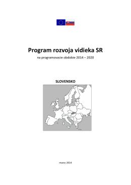 Program rozvoja vidieka SR na programovacie obdobie 2014