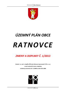 Územný plán obce Ratnovce - text