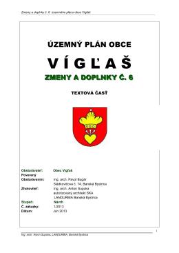 Územný plán obce Vígľaš – zmeny a doplnky č. 6