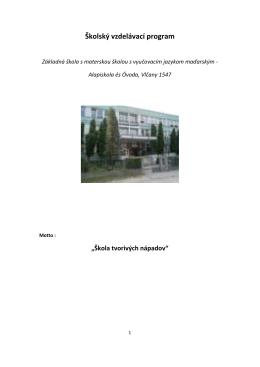 Školský vzdelávací program 2012