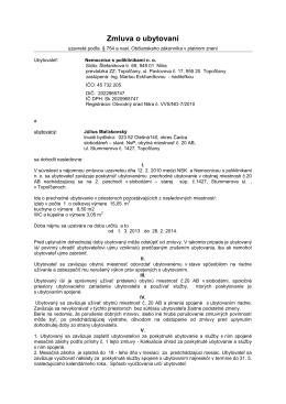 Zmluva o ubytovaní - Nemocnice s poliklinikami no