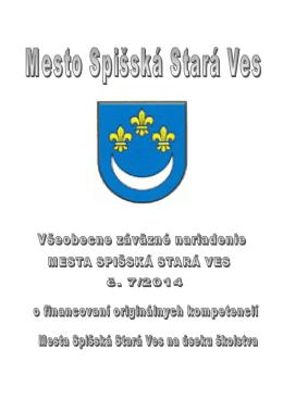 VZN ıkolstvo2015 - Mesto Spišská Stará Ves