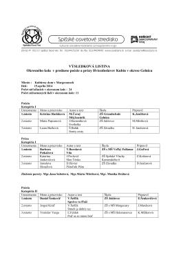 výsledky 60. Hviezdoslavov Kubín (pdf súbor)