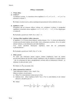 Dôkazy v matematike