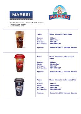 Vienna ice coffee Katalóg
