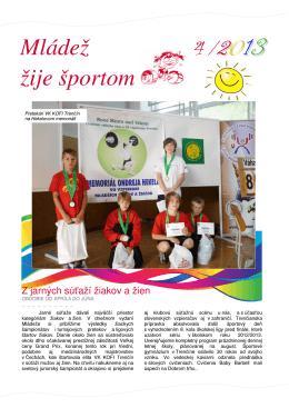 Mládež žije športom časť 4/2013