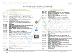 Program - príspevky seminára a konferencie