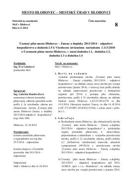 8_Územný plán mesta Hlohovec_Zmeny a