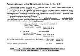 Zmena režimu v Rybodome-Ekl