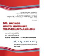 XVIII. stretnutie detských hematológov