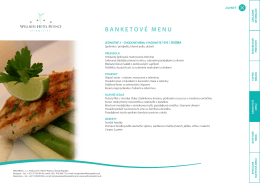 bANKEtOVÉ MENU - Wellness Hotel Patince