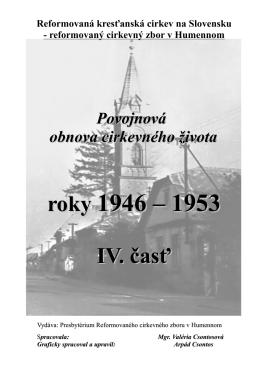 roky 1946 – 1953