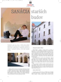 Sanácia starších budov